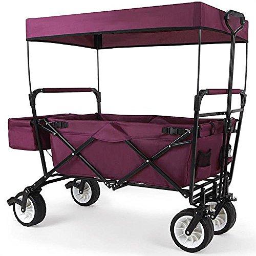 faltbarer bollerwagen mit sonnendach von fuxtec jw 76cp bollerwagen faltbar klappbar. Black Bedroom Furniture Sets. Home Design Ideas