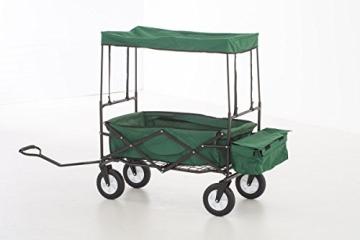 Faltbarer Bollerwagen CP410 von Mendler (grün)
